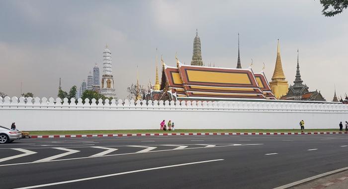 Blick auf den Königspalast